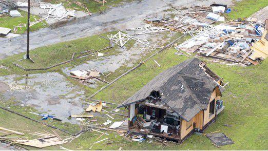 Vom Wirbelsturm Harvey zerstörte Häuser.