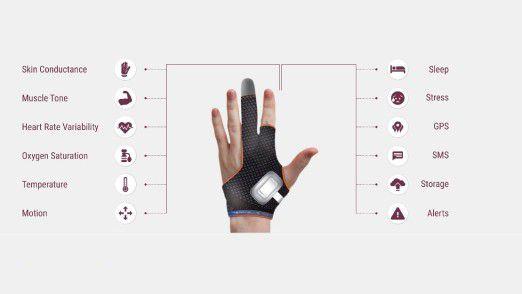 Intelligenter Handschuh mit Sensoren für Epilepsie-Patienten.