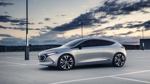 Mercedes-Benz präsentiert sein erstes voll-elektrisches EQ Konzeptfahrzeug im Kompaktsegment.