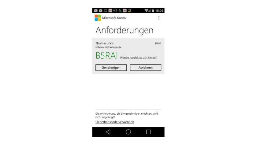 Windows 10 kann zusätzlich mit Zwei-Wege-Authentifizierung abgesichert werden, auch über das Smartphone.