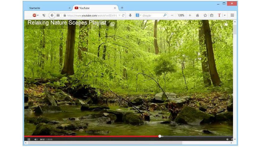 Ruckelfreie Videos: Youtube Center für Firefox passt die Wiedergabeeinstellungen so an, dass Clips während des Pausierens wieder komplett vorgeladen werden.