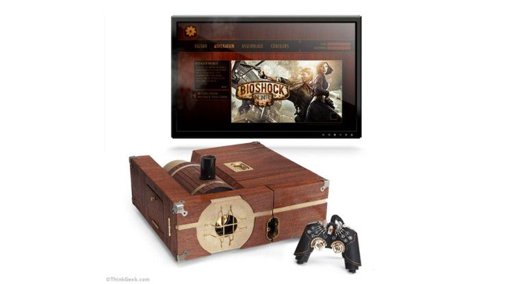 Das Thinkgeek Steam-Powered Gaming Cabinet ist eine echte Steam Machine.(Bildquelle: Thinkgeek)