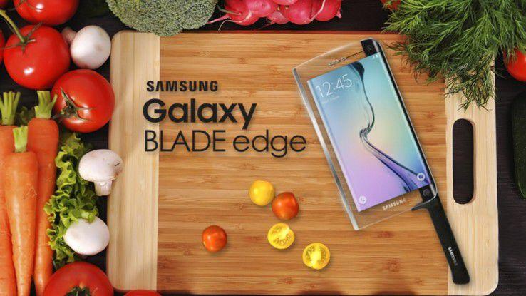 Das Samsung Galaxy Blade Egde - ein Smartphone für die Küche.(Bildquelle: Samsung)