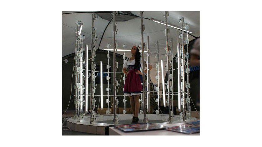Offener Scanaufbau für den 3D-Scan