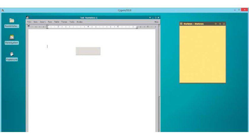 Viel Linux, wenig Windows: Mit Cygwin arbeiten Linux-Desktop und Windows friedlich nebeneinander, in diesem Fall ist es eine XFCE-Umgebung.