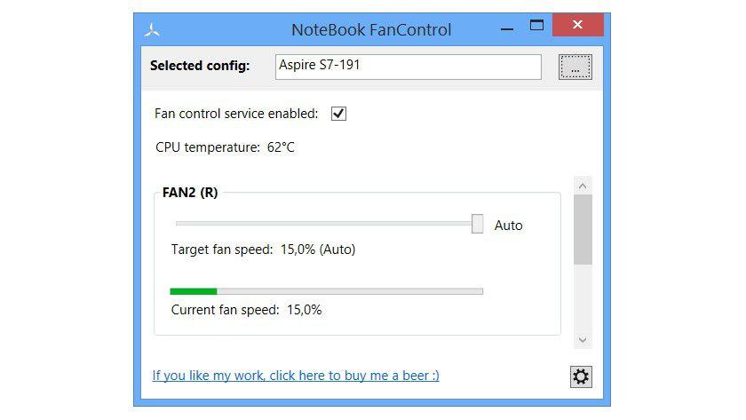 Mit NotebookFanControl können Sie den Lüfter des Notebooks leiser stellen, falls das Tool Ihren Laptop unterstützt.