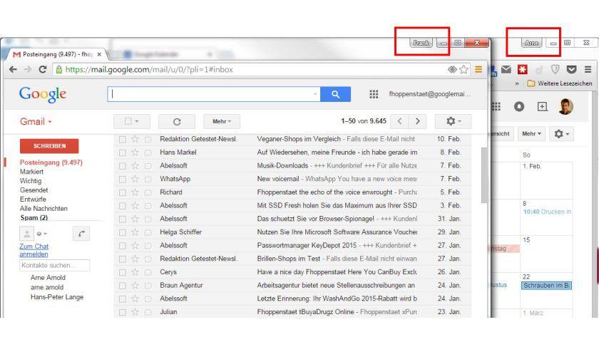 Mit Version 40 von Google Chrome bietet der Browser Profile an, mit denen Sie Lesezeichen, Cookies und andere private Einstellungen getrennt verwalten.