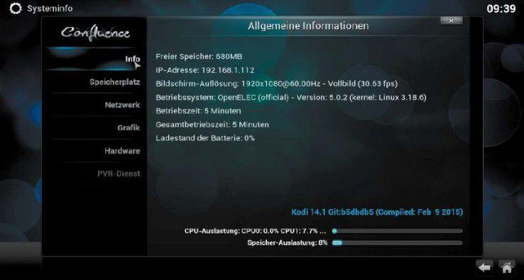 Mediencenter Open Elec oder XBMC: In der Rolle als Medien-Server kommt die leistungsstarke Hardware des Raspberry Pi 2 voll zur Geltung.