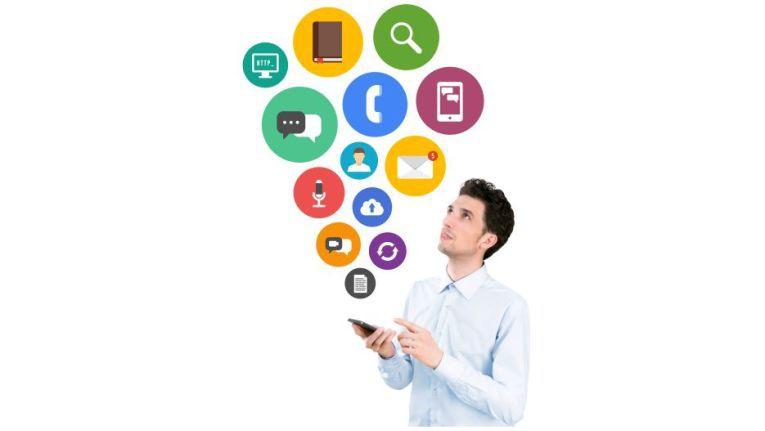 Mit Smartphones auf Cloud-Lösungen zugreifen: In wunderbaren Powerpoint-Folien werden Sparkonzepte für Kunden präsentiert und so genannte Vertriebschancen für den Handel errechnet.