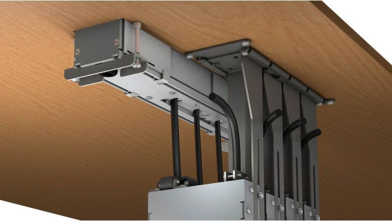 Kindermann Cable Caddy: Horizontale wie vertikale Montage ist möglich.
