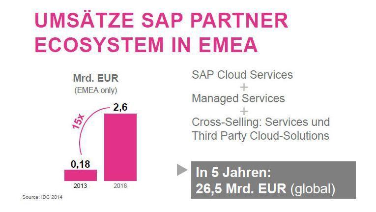 IDCs Wachstumsprognose für das SAP-Partner-Ökosystem in EMEA bis 2018.