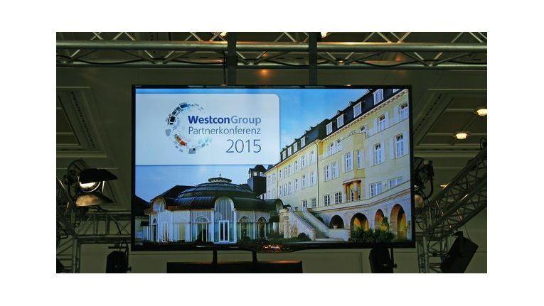 Westcon Partnerkonferenz Bonn 2015: Vortragsbeginn in imposanter Kulisse.