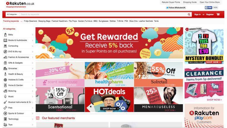 Online-Shoppingmall mit starken Händler-Persönlichkeiten - auf dem britischen Marktplatz ist die Rakuten-Plattform RMSg bereits zu sehen