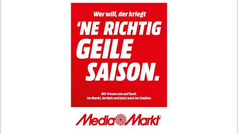 """""""Wer will, der kriegt 'ne richtig geile Saison"""": Im Slogan seiner neuen Kampagne verwendet Media Markt wieder das G-Wort, das jahrelang für aggressive Marktpolitik stand."""