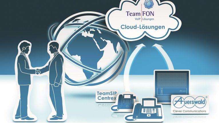 """Auerswald verspricht Nutzern reibungsloses Zusammenspiel und hohe Sicherheitsstandards, so dass gemeinsam mit TeamFon eine sichere und hochwertige VoIP-Lösung """"Made in Germany"""" angeboten werden kann."""