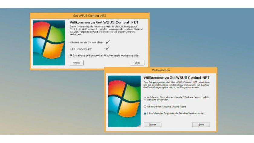 Get Wsus Content .Net prüft bei der Einrichtung, ob die erforderlichen Komponenten vorhanden sind. Das Tool lässt sich auch portabel einsetzen.