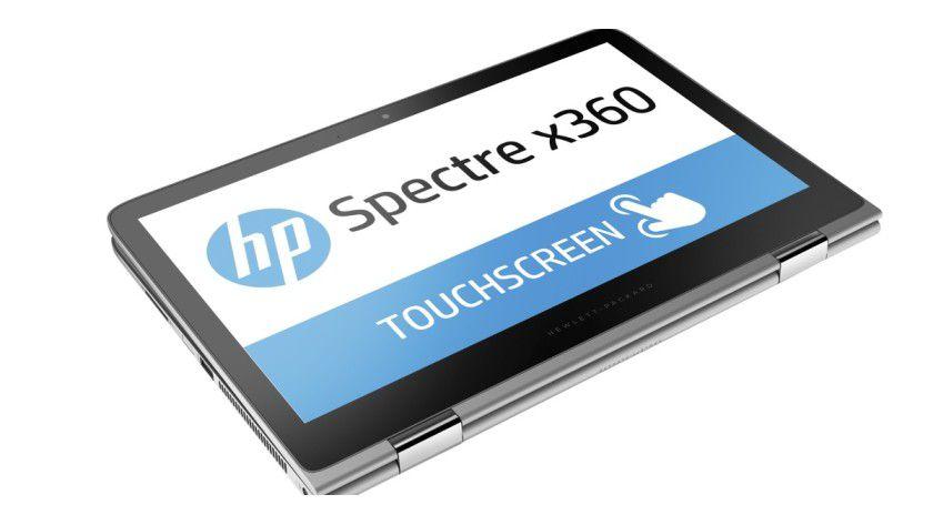 Wenn Sie den Bildschirm nach inten klappen, wird aus dem Luxus-Notebook ein Tablet - allerdings ein schweres