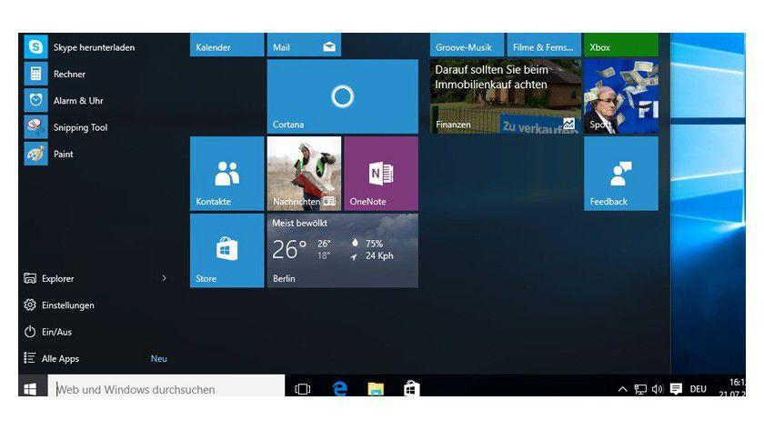 """Windows 10: So sieht die """"finale"""" Version aus (c) IDG/IDG"""