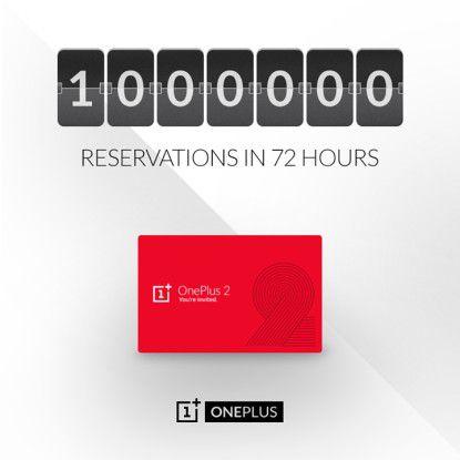 Stolze Summe: Binnen 72 Stunden gingen bereits eine Million Vorbestellungen für das OnePlus 2 ein.