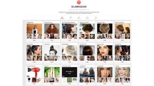 Die Pinnwände des Startups Glamsquad auf Pinterest.