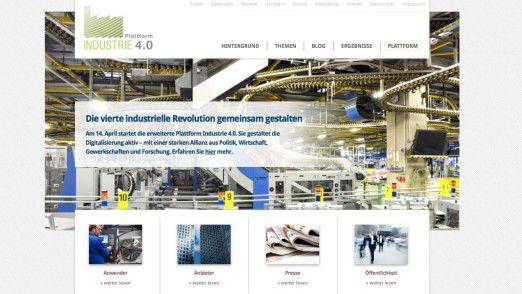 Die Plattform Industrie 4.0 (http://www.plattform-i40.de) sammelt Anbieter, Anwender und Infos zur vierten industriellen Revolution.