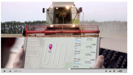 ...oder Landwirtschaft. Es gibt kaum eine Maschine, die nicht per Mobilfunk mit dem Netz kommuniziert.