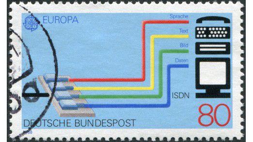 ISDN - hier eine Sondermarke von 1988 - stand in der Vergangenheit für die Integration von Sprache, Text, Bild und Daten in einem Netz.
