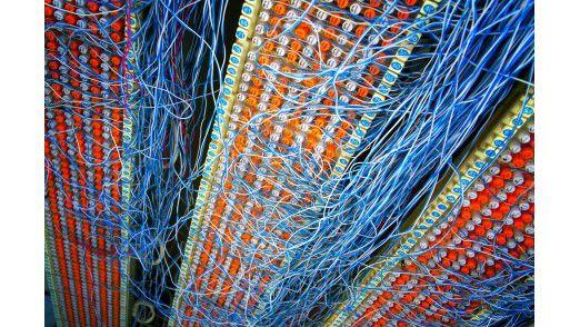 Alles über eine Leitung. In der All-IP-Welt soll es solche Telefonverteiler nicht mehr geben.