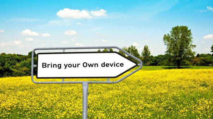 """Unternehmen die den """"ByoD-Weg"""" gehen, sollten sich der möglichen Vor- und Nachteile einer Bring-Your-Own-Device-Strategie bewusst sein."""