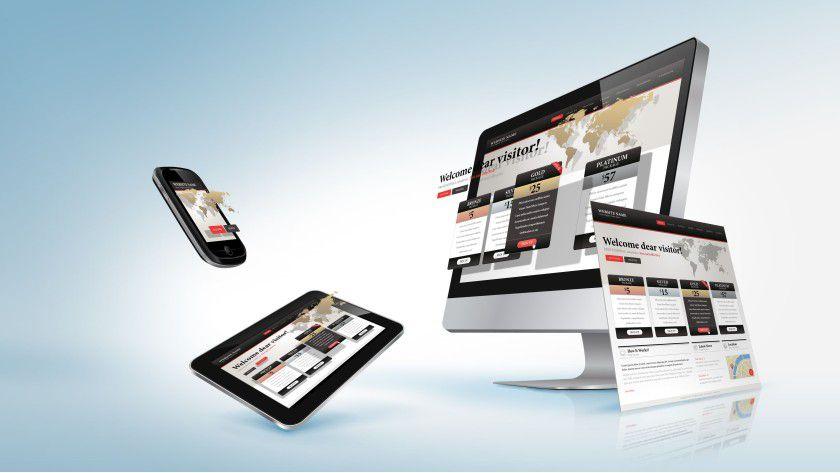 Responsive Webdesign liefert den Besuchern einer Website automatisch die Ansicht im passenden Format.