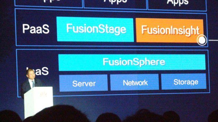 Cloud-Portfolio: Der Konzern stellte auf dem HCC 2015 unter anderem Fusionsphere 6.0 vor.