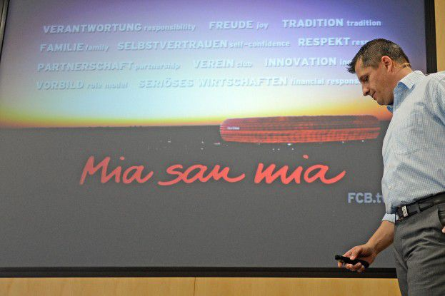 """""""Die Hauptaufgabe der IT es dafür Sorge zu tragen, dass IT den Markenwert nicht beschädigt"""", sagte FC-Bayern-CIO Michael Fichtner."""