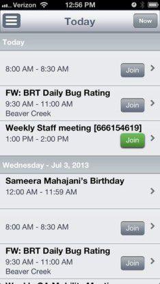 Klein und praktisch, insbesondere am Handy: Ein Join-Button ersetzt den Einwahl-Code