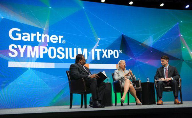 Virginia Rometty, CEO von IBM, läutete auf dem Gartner-Symposium in Orlando das Zeitalter des Cognitive Computing ein - mit Watson Analytics im Mittelpunkt.