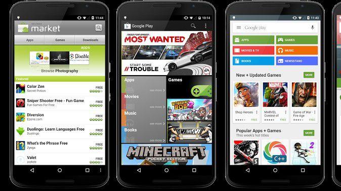 Google überarbeitet seinen Play Stor für Android.