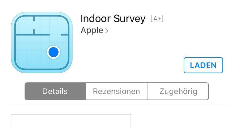 Die App Indoor Survey ist nur für freigegebene User nutzbar.