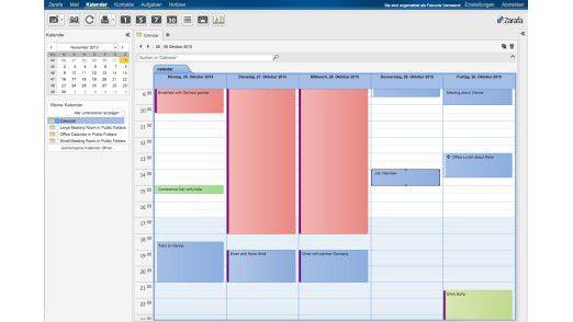 Der Zarafa-Kalender bildet Outlook nach.