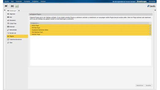 Zarafa WebApp lässt sich durch Plugins erweitern.