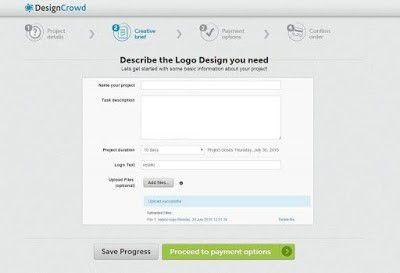 So sieht ein Teil des Briefings beim Anbieter Designcrowd aus.