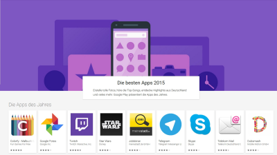 Best Of Google Play Store: Die besten Android-Apps 2015 - Foto: Google / IDG Business Media GmbH
