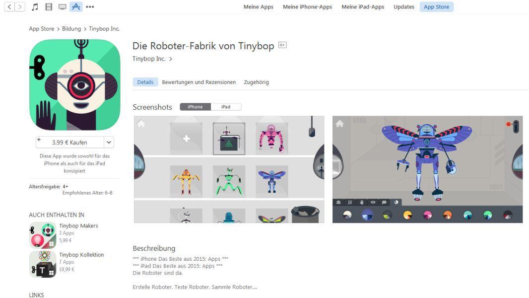 die besten apps spiele f r apples iphone 2015 platz 8 roboter fabrik. Black Bedroom Furniture Sets. Home Design Ideas