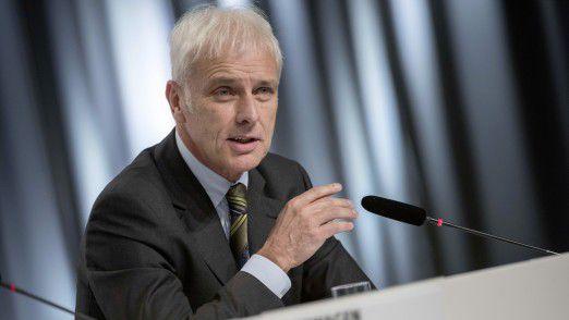 Matthias Müller, Vorstandsvorsitzender der Volkswagen AG, hofft auf eine Einigung mit den amerikanischen Behörden in der Amtszeit von Barack Obama.