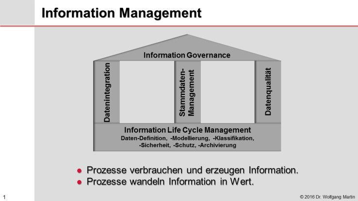 Die Komponenten von Information Management.