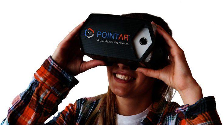 Virtuelles Brett vorm Kopf: Das POINTAR Cardboard von DEXPERIO verwandelt Smartphones ganz einfach in kostengünstige VR-Headsets.