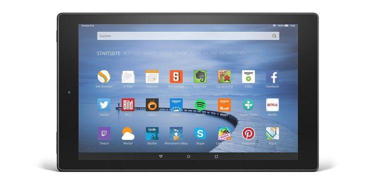 Gute Alternative zum Testsieger bei den 10-Zoll-Tablets: Das amazon Fire HD 10 für 199 Euro
