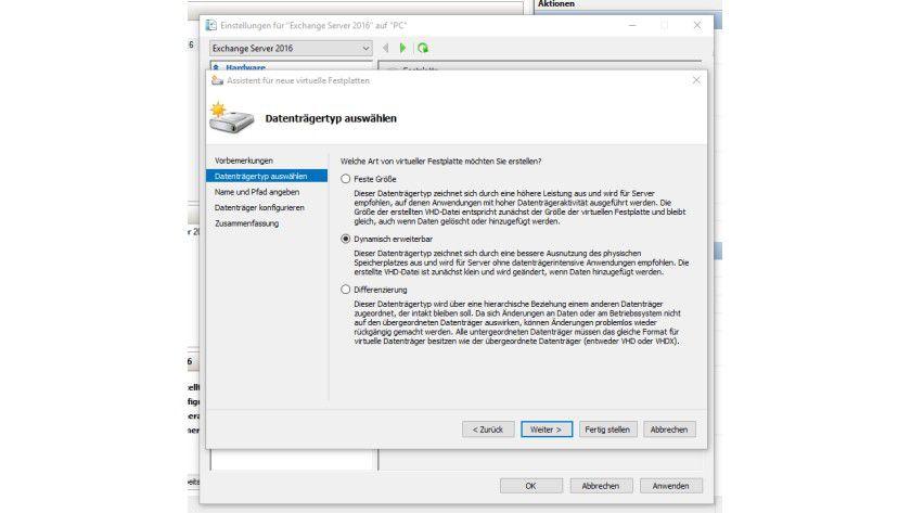 In Windows 10 und Windows Server 2016 fügen Sie neue virtuelle Festplatten genauso schnell hinzu, wie bei Windows 8.1 und Windows Server 2012 R2.