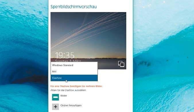 Die App Einstellungen ist eine der beiden Konfigurationszentralen in Windows 10. Hier lassen sich beispielsweise die Vorgaben für den Sperrbildschirm ändern.