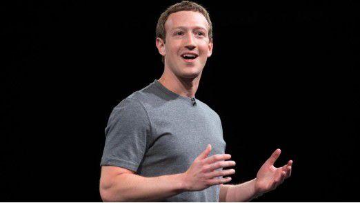 Facebook-Chef Mark Zuckerberg glaubt an die Lösung von Problemen mit Hilfe von Technologie.