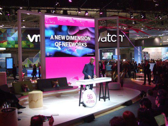 Firmenchef Tim Höttges betonte auf der Telekom-PK die Bedeutung der 5G-Technik.
