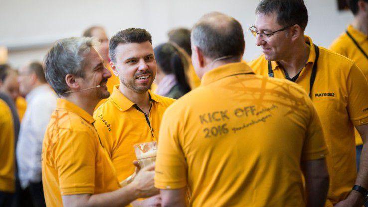 Das Team von Matrix42 beim diesjährigen Kickoff. Links CEO Jochen Jaser und CTO Oliver Bendig.